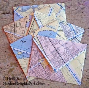 Upcycled envelopes
