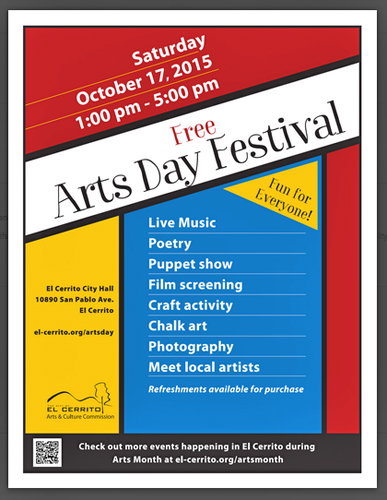 Arts Day 2015 poster